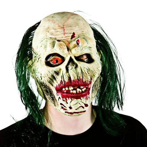 Adult Unisex One Eye Zombie with Hair Mask Masquerade for Disguise Fancy Dress